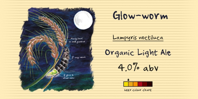 An easy-drinking, golden coloured Organic Light Ale that hopefully will leave you with a nice warm glow